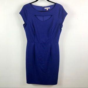 Banana Republic royal blue zip up dress